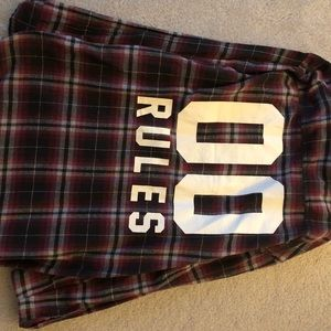 00 RULES oversized flannel